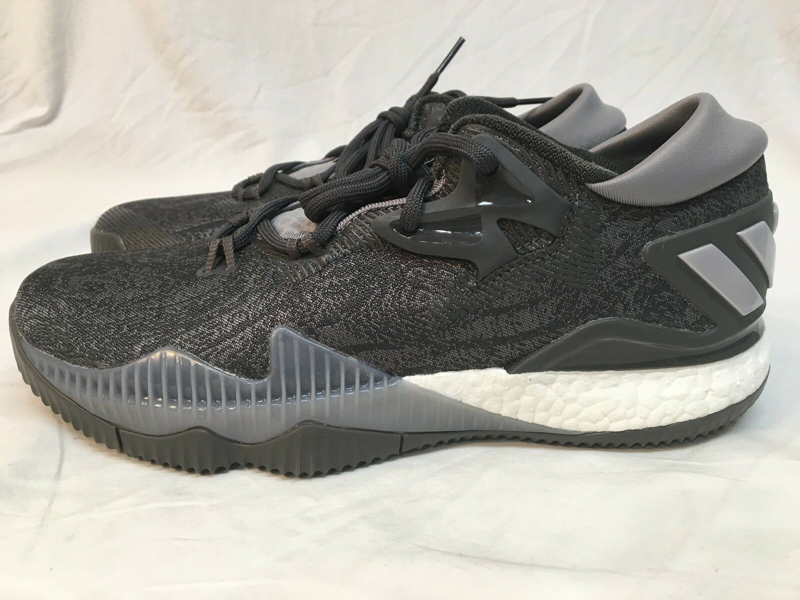 Men's Adidas Crazylight Boost Low - Grey/Black - NIB - Comfortable Seasonal clearance sale