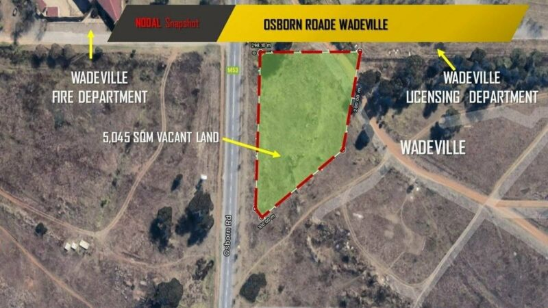 Industrial zoned vacant land for sale in Wadeville at R2 500 000.00