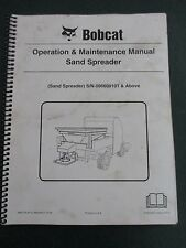 Bobcat Sand Spreader 006600101 Amp Up 6902779 213 Operation Amp Maintenance Manual