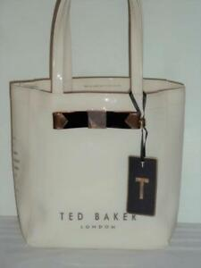 a091b778f Ted Baker London Med Patent Cream Black Copper Lucon Tote Bag 8.50 x ...