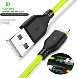 For-iPhone-5S-6-7-8-Plus-X-Apple-Charger-FLOVEME-lightning-USB-Cable-Sync-Data