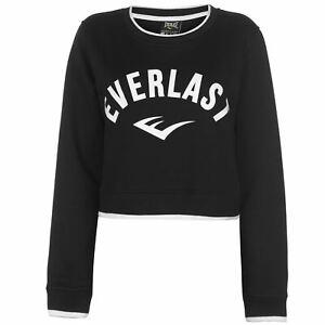 3ac6aa5e866 Everlast Crop Sweatshirt Ladies Crew Pullover T Shirt Tee Top Jumper ...