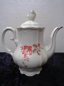 Art-Deco-Steinmann-Tiefenfurt-Silesia-Porcelana-Jarra-de-Cafe-Vintage-Um-1930
