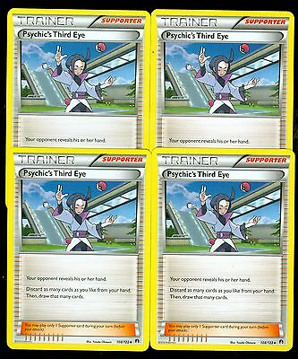 MINT 4X Pokemon PSYCHIC/'S THIRD EYE 108//122 XY BREAKpoint