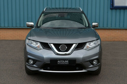 2014+ Chrome Wing Mirror Trim Set Covers To Fit Nissan X-Trail