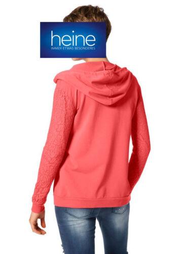 KP 49,90 € Neuf!!!/% Sale/% Sweatjacke Capuchon corail Heine