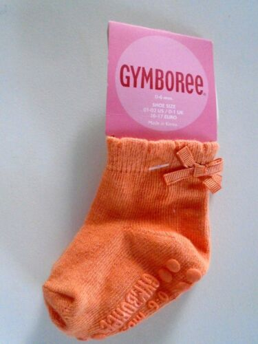 NWT GYMBOREE GIRLS ORANGE GRIP BOW SOCKS VINTAGE  FALL 0-6MO//12-24MO//2-3YRS LOT