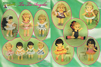 Cute Balarina Doll Clothes Tu-tu Angels 4 Christmas Annie Potter Crochet Booklet