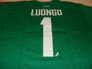 huge discount c543b add8c Details about Vancouver Canucks Roberto Luongo Name Number Green T Shirt M  Reebok NHL Hockey