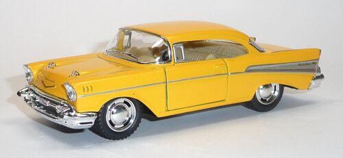 12,5cm Neuware von KINSMART NEU 1957 Chevrolet Bel Air gelb Sammlermodell ca