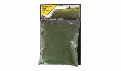 Woodland Scenics fs621 Static Grass Dark Green 7 Mm Pour de paysage