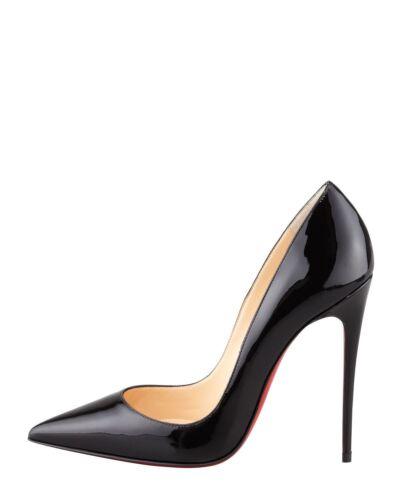 en cuir à 120 Nouveau Louboutin talons So verni Christian aiguilles Kate noir Escarpins xSz61