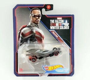 Collectible Hot Wheels Character Cars Marvel's Falcon 1:64 Diecast Mattel 2021