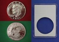 1971-S 40% Silver Proof Eisenhower Dollar Ike With DIY Slab Flat Rate Shipping