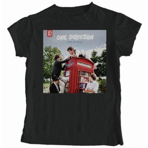 One Direction Take Me Home Official Ladies Skinny Fit Black T Shirt Womens Girls