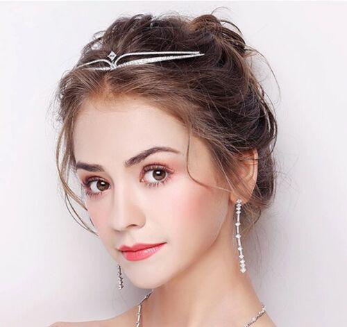 Élégant Diadème mariage bijoux cheveux mûrs Bijoux De Cheveux Mariée Tiara ArgentNOUVEAU