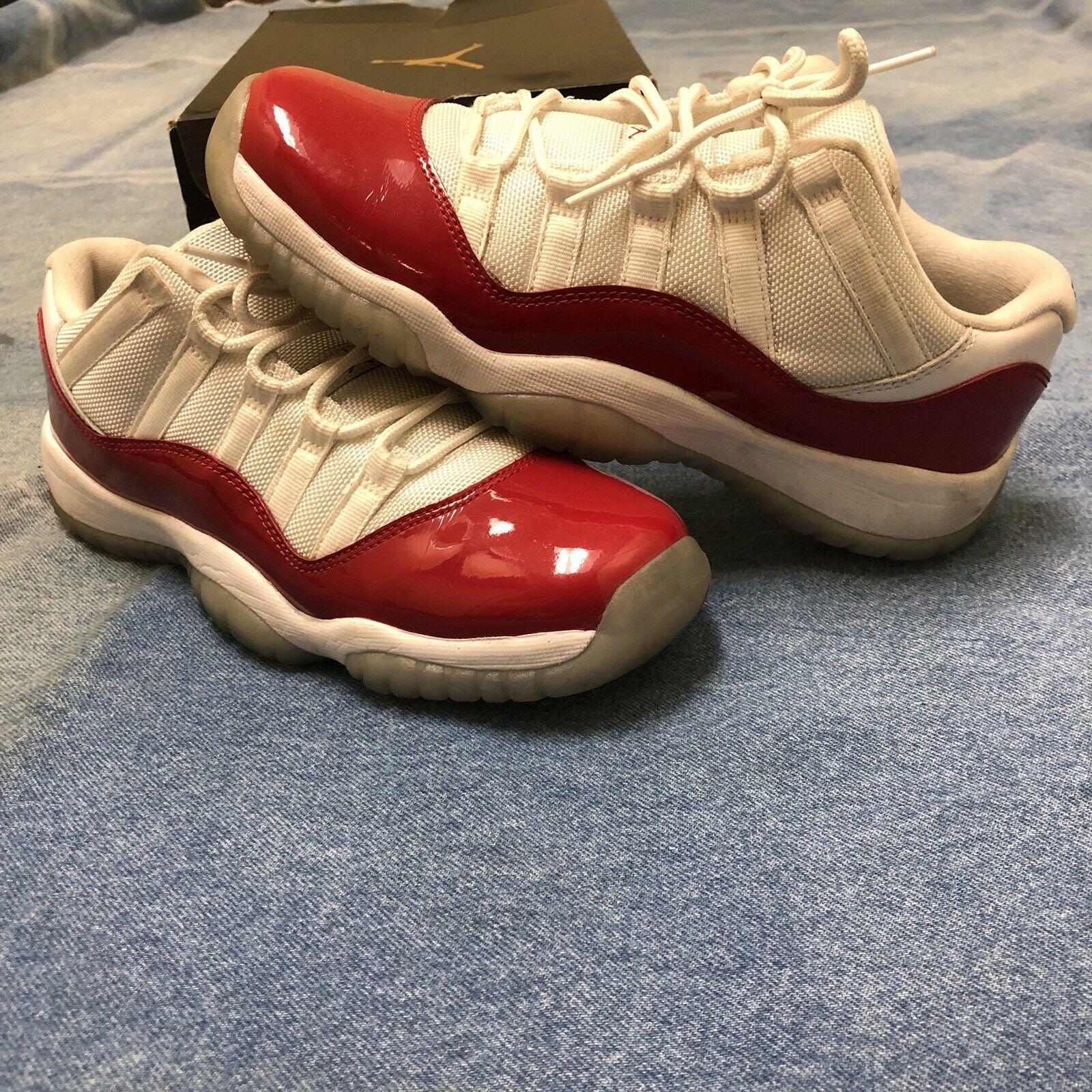 Nike Air Jordan 11 XI Retro Low BG Cherry Varsity Red 528896-102 SIZE 7Y