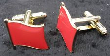 Red Flag Cuff Links Socialist Socialism Communist Symbol Cufflinks