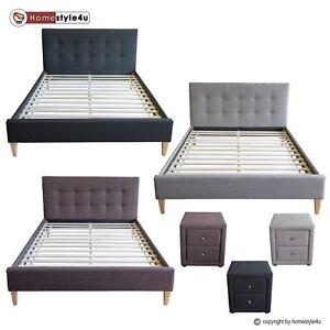bett polsterbett doppelbett stoffbett bettgestell lattenrost 140 160 180 cm ebay. Black Bedroom Furniture Sets. Home Design Ideas