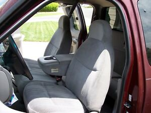 Pleasing Details About 1997 1999 Ford F150 Front Car Seat Covers With 60 40 Split Seat In Gray Endura Bralicious Painted Fabric Chair Ideas Braliciousco