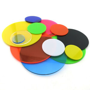Color Acrylic Sheet Round Plexiglass Plastic Plate Dia 20-400mm DIY ...