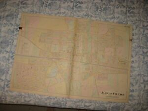 Map Of New York Jamaica.Huge Vintage Antique 1891 Jamaica Queens New York Handcolored Map