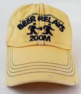 2784d05d9a4 Old Navy Yellow Beer Relays 200M All-College Embroidered Baseball ...