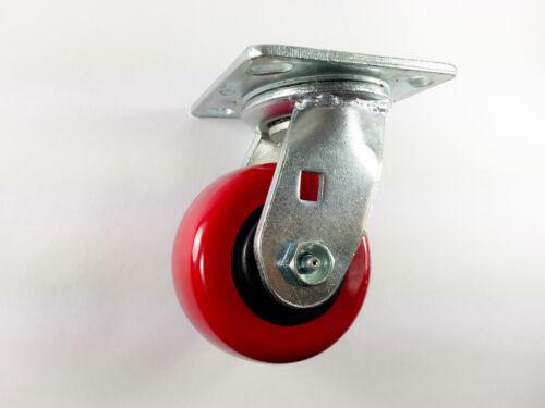 "4/"" x 2/"" Polyurethane On Plastic Caster //Swivel with brake 2ea Swivel 2ea"