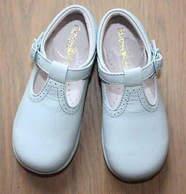 *** Chaussures Basses Enfant Cuir Bleu Ciel T. 25 Neuves ***