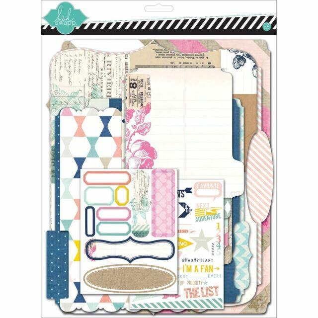 """Heidi Swapp Memory Files Scrapbook Album Kit 9""""X11.5""""-Cardstock -HS01103"""