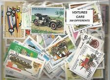 "Lot de 300 timbres thematique "" Automobiles"""