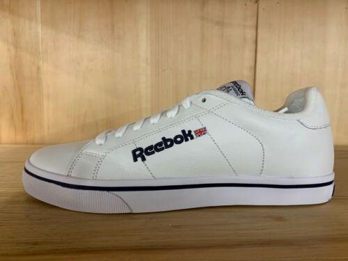 REEBOK CLASSIC NPC CLEAN WHITE ATHLETIC NAVY CASUAL SHOES MENS SZ 7-8  6-951639