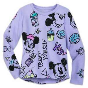 Disney-Store-Mickey-amp-Minnie-Mouse-Treats-T-Shirt-Girls-Size-2-3-4-5-6-7-8-10-12