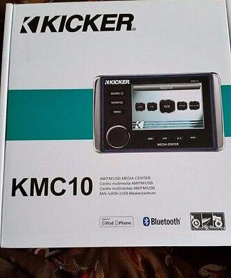 Kicker KMC10 Marine AM/FM/USB/Bluetooth All-In-One Media Center