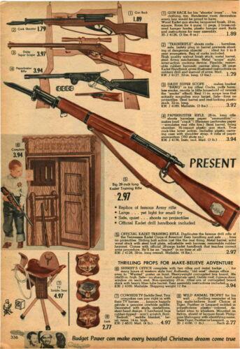 1958 ADVERT 4 PG Toy Gun Rifle Wells Fargo Mattel Winchester Daisy Super Scope