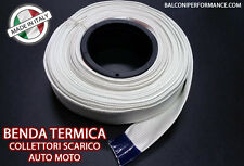 BENDA TERMICA SCARICO COLLETTORI ISOLANTE MARMITTE MOTO FIBRA 5 metri 50 mm