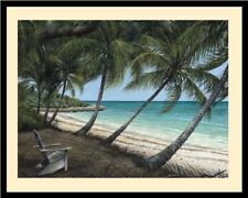 "/""Verandah/"" by Tripp Harrison Small Framed Fine Art Nautical Seascape"