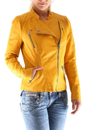 Only Ava Faux Kunstleder Biker Jacket Damen Jacke Neu
