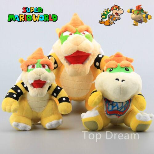 Bowser King Koopa /& Bowser JR Plush  Toy Soft Doll Teddy 3X Super Mario Bros