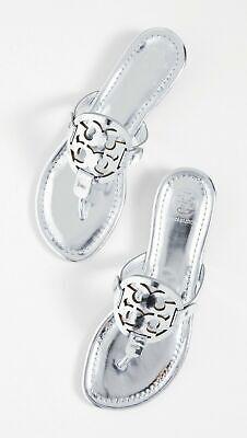 NEW Tory Burch Miller Sandals Silver