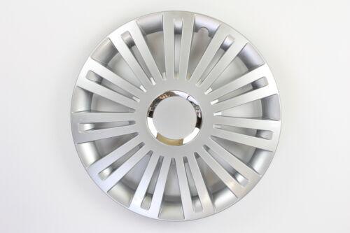 Radkappen Radzierblenden universal 4er PACK 15 Zoll Excellent silver