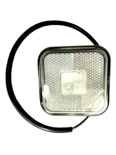 2x Weiß LED Umrissleuchte Begrenzungsleuchte Positionsleuchte E9 LKW PKW SET