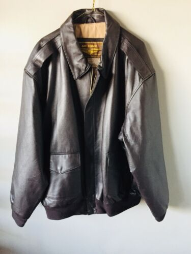 Landing Leathers Air Force Brown Leather Bomber Ja
