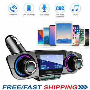 Bluetooth-Kit-de-Voiture-Transmetteur-FM-Mains-Libres-MP3-LCD-USB-Chargeur