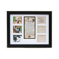 Pet Memorial Frame Poem Dog Cat Gift Collage Photos Personalize Plaque Picture