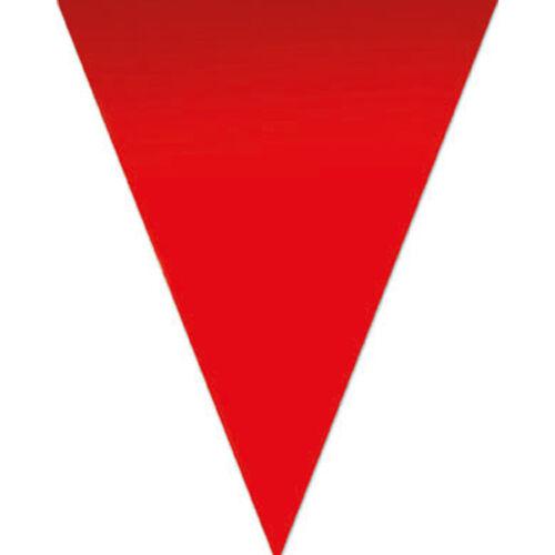 Festone a BANDIERINE traingolari da cm 30 lungo  mt 5 colore rosso