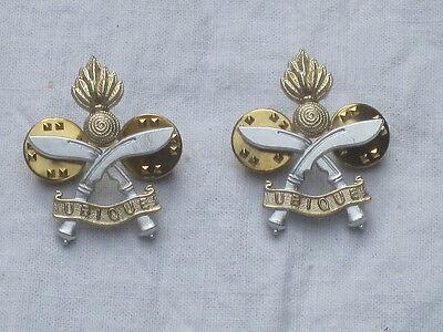Queens Gurkha Engineers,QGE,Anodised Aluminium Staybright,Collar badges