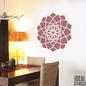 ... Jaipur Mandala Indien Pochoir Bouddhisme Symbolique Decoration Murale