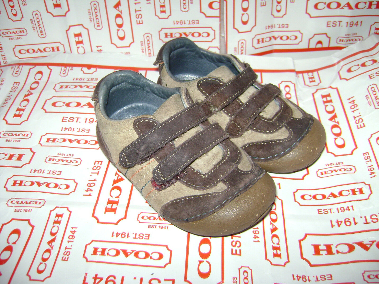 STRIDE RITE CAVY BABY TODDLER BOYS SHOES size 5 W BROWN LEATHER VERY