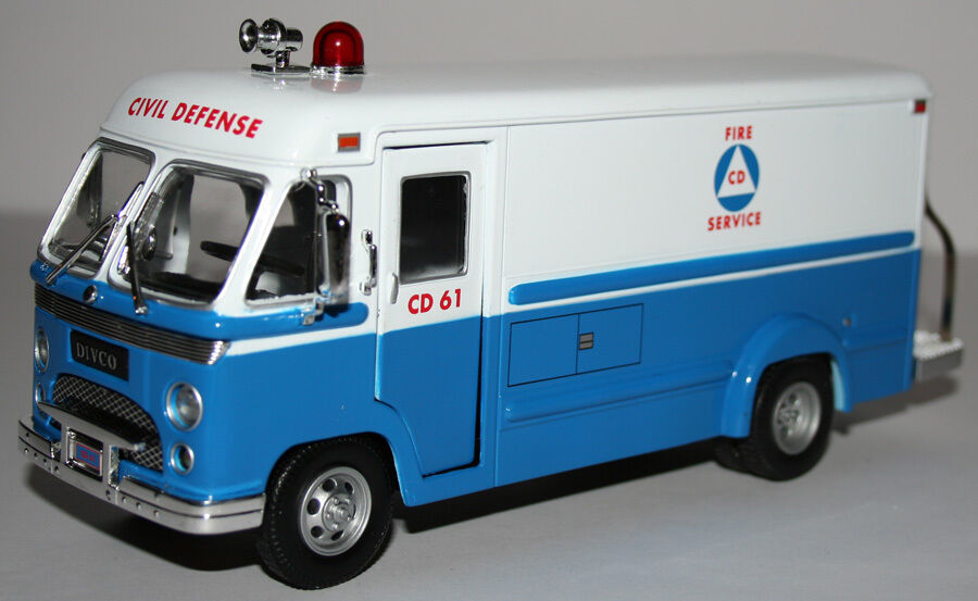Crown Premiums Rare Divco Civil Defense Van